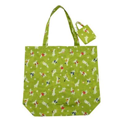 KUROCHIKU 和風圖案環保袋 小尺寸 兔子祭典