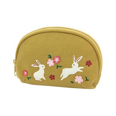 KUROCHIKU 和風系列 化粧包 兔子