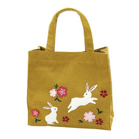 KUROCHIKU 和風系列 午餐袋 兔子