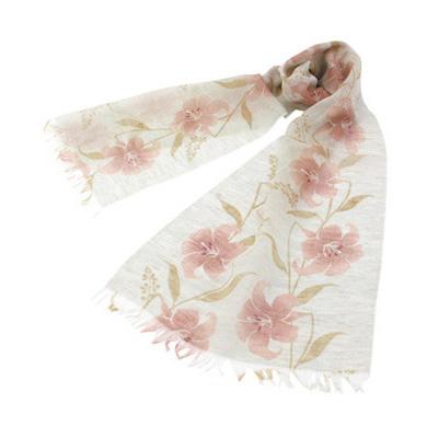 KUROCHIKU 棉麻圍巾 百合