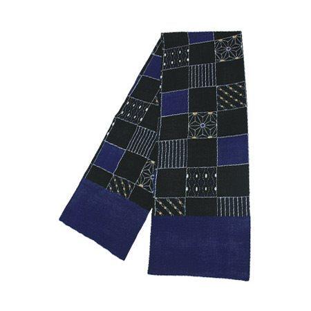 KUROCHIKU 紗棉圍巾 市松格紋