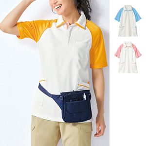 [cecile] Raglan Color Short Sleeves Polo Shirt / New Arrival Spring 2020, Ladies