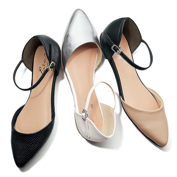 典雅中空尖頭鞋