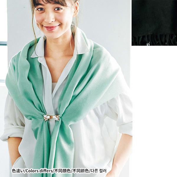 [RyuRyu] 彩色圍巾 (黑色) /SALE