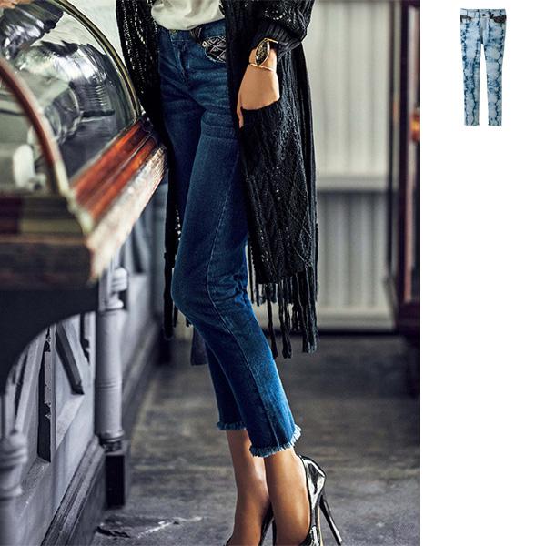 [RyuRyu] 後口袋綁帶設計緊身牛仔褲/SALE