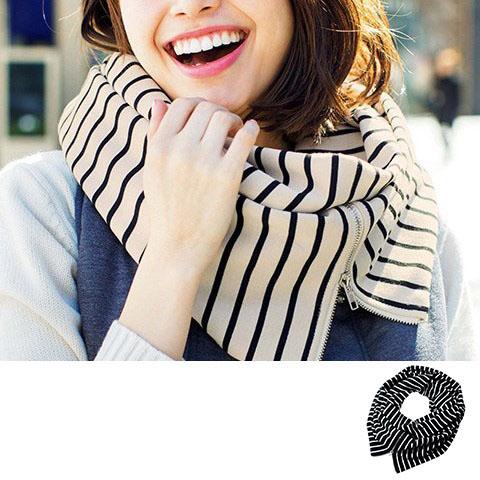 [RyuRyu] 拉鍊造型圍巾 /SALE