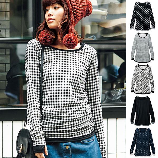 [RyuRyu]套指層次風長版針織衫/SALE