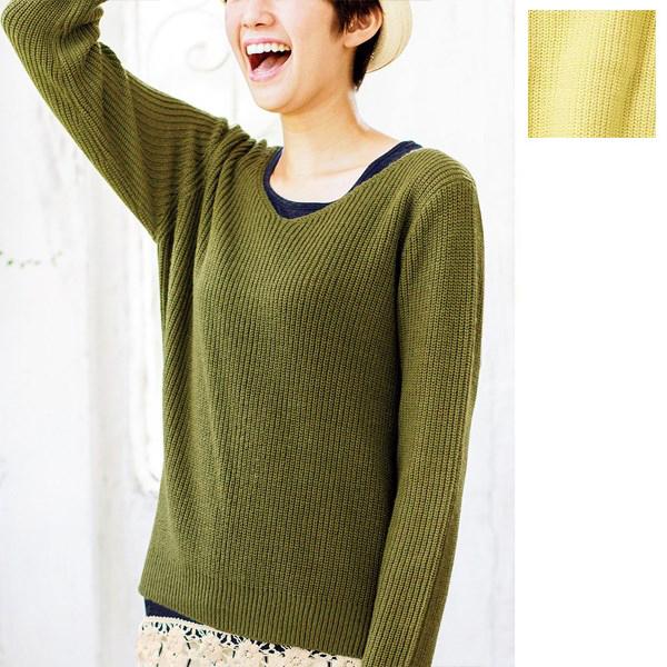 [RyuRyu] 編織V領寬鬆針織衫 /SALE