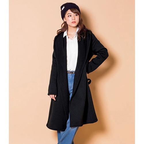 [RyuRyu] 內刷毛針織綁帶大衣/SALE