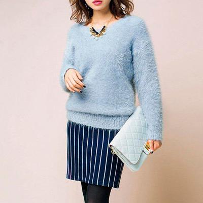 [RyuRyu] 刷毛針織上衣 (LL) /SALE