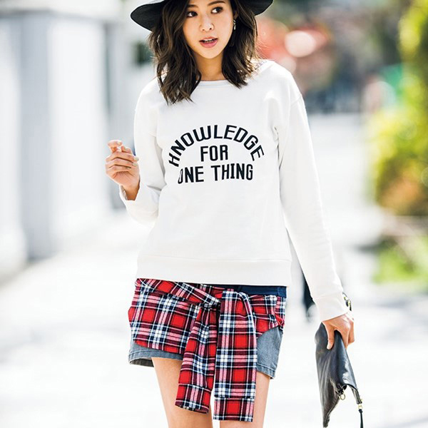 [RyuRyu] 異素材使用內刷毛兩件式上衣/SALE