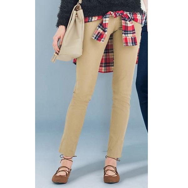 [RyuRyu] 襯衫綁腰造型2WAY緊身長褲  /SALE