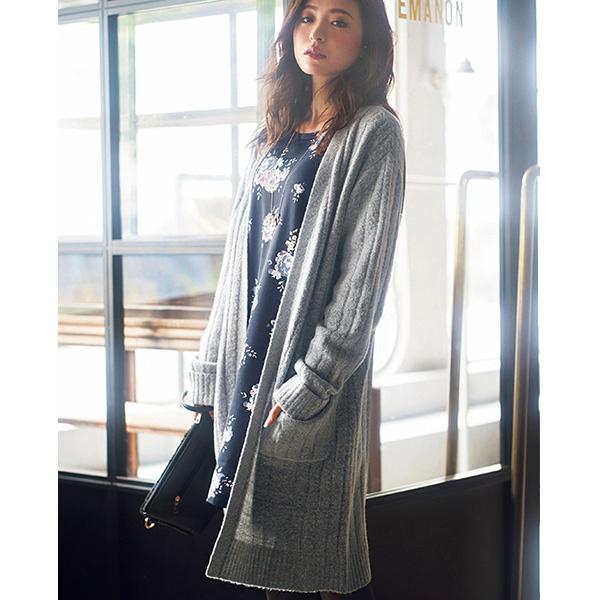 [RyuRyu] 寬羅紋針織開襟外套 (M) /SALE