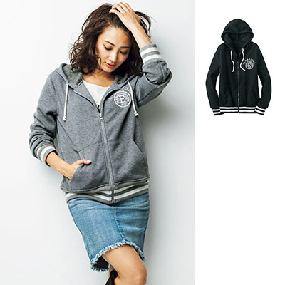 [RyuRyu] RUNDENI內鋪毛連帽上衣 (S) /SALE