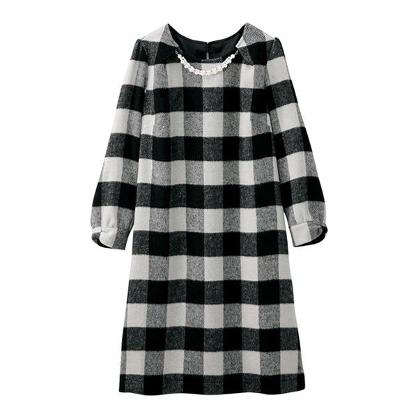 [RyuRyu] 附首飾羊毛調洋裝/SALE