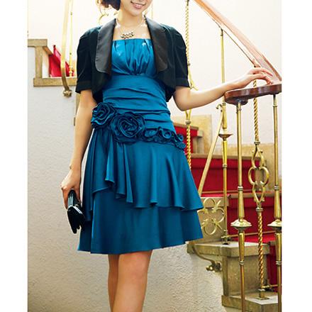 [RyuRyu] 短襬短外套開襟衫花朵裝飾洋裝套組 (9) /SALE