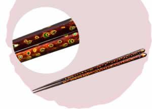 Old Wakasa-Nuri Chopsticks, Seaside Rain [23cm]
