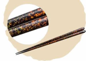 Tsugaru-Nuri Chopsticks Thin Clouds [23cm]