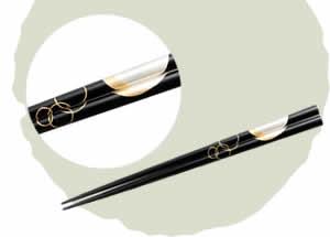 Wajima-Nuri Chopsticks, Yoimachizuki [22.5cm]