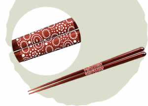 Ikigara Chopsticks, Band Chopsticks, Madder Red [23cm]