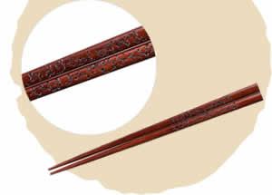 Kihada Chopsticks, Chinese Pattern [21cm]