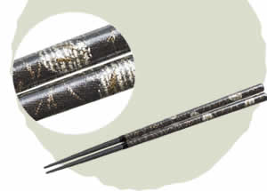 Nishijin Brocade Chopsticks, Moon [23cm]