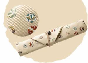 Nishijin Chopstick Bag, Fall Temari