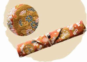 Nishijin Chopstick Bag, Spring Flower Basket