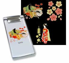 Japanese Pattern Maki-e Sticker C Set: For Girls  (Set of 3)