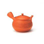 Hokuryu Red Clay Pine Bark Teapot