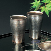 Tadashi Tomita Silver Crystal Paired Cups