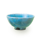Keigama Turquoise Glaze Small Rice Bowl