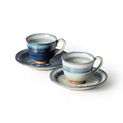 Shuhogama Ofuke Cup & Saucer Pair Set