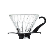 HARIO V60 Heat Resistant Glass Permeation Dripper 01 Black