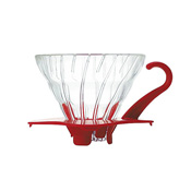 HARIO V60 Heat Resistant Glass Permeation Dripper 01 Red