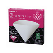 HARIO V60-Compatible Paper Filter 03W 40 Pieces