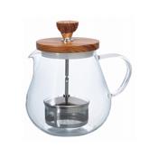 HARIO 滤压茶壶・木质 700ml