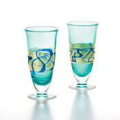 Gold Paint Lapis Lazuli Pilsner Pair Set