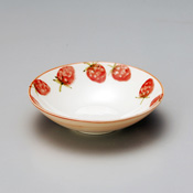 Strawberry Design Flat Bowl