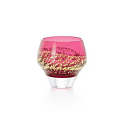 Edo Glass Red Cold Sake Cup (Pure Rice Sake)