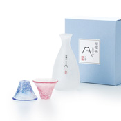 Good Fortune Cup Mt. Fuji Cold Sake Set