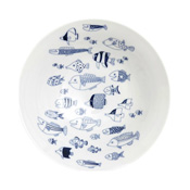 Hasami Ware, cocomarine Large Pot, School of Fish