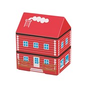 [Bento Box] Obento House, Wooden House RED