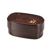 [便當盒] 男士午餐 男性用橢圓木紋便當盒 櫪木系貓頭鷹