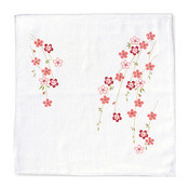 Gauze Handkerchief, Full-Bloom Cherry Blossom