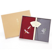 Chirimen Crepe Embroidery, Kinpu Fukusa Cloth Envelope, Set, Crane / Lotus