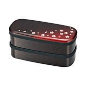 [Bento Box] Akane-Zakura Slim 2-Tier Lunch Box, Akane-Zakura Red