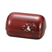 [便當盒] 基本款系列 捏飯糰便當盒 木紋小兔