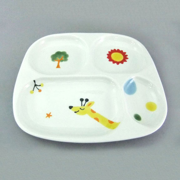 Hasamiyaki Mr. Giraffe Multi-Picture Plate