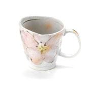 Minoyaki Hand-Painted Cherry Blossom Mug